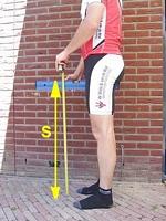 fiets hoogte bepalen
